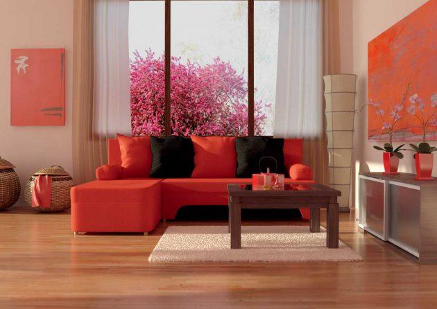 διακόσμηση με κόκκινο χρώμα1