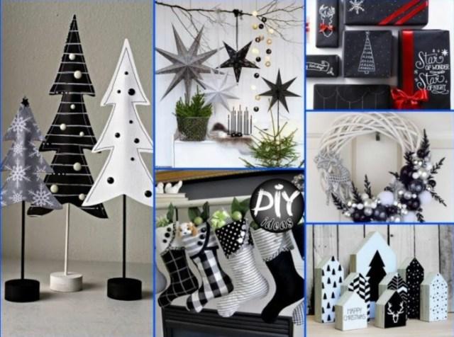 χριστουγεννιάτικη διακόσμηση σε άσπρο - μαύρο15