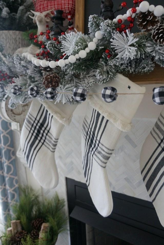 χριστουγεννιάτικη διακόσμηση σε άσπρο - μαύρο20