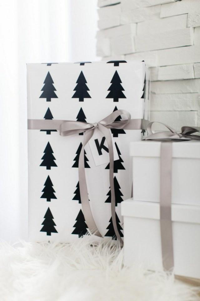 χριστουγεννιάτικη διακόσμηση σε άσπρο - μαύρο21