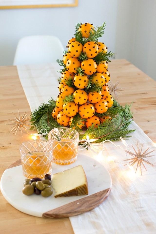 Χριστουγεννιάτικη διακόσμηση με πορτοκάλια10