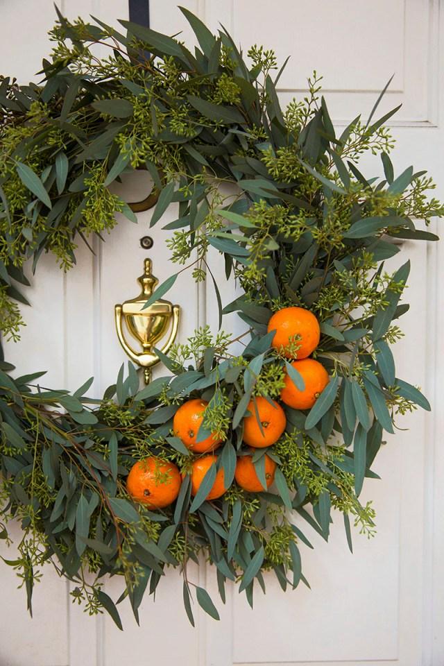 Χριστουγεννιάτικη διακόσμηση με πορτοκάλια11