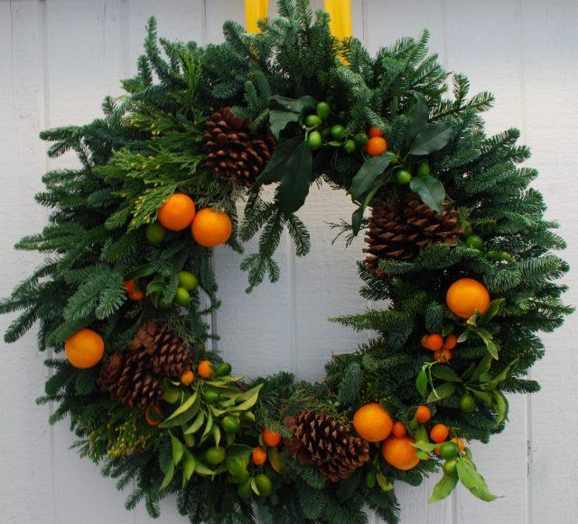 Χριστουγεννιάτικη διακόσμηση με πορτοκάλια12