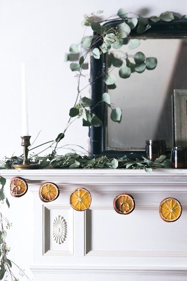 Χριστουγεννιάτικη διακόσμηση με πορτοκάλια7