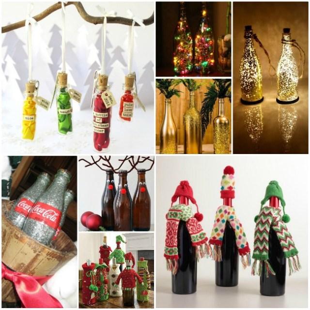 DIY Χριστουγεννιάτικη διακόσμηση από γυάλινα μπουκάλια