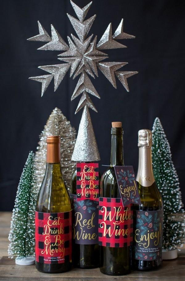 DIY Χριστουγεννιάτικη διακόσμηση από γυάλινα μπουκάλια13
