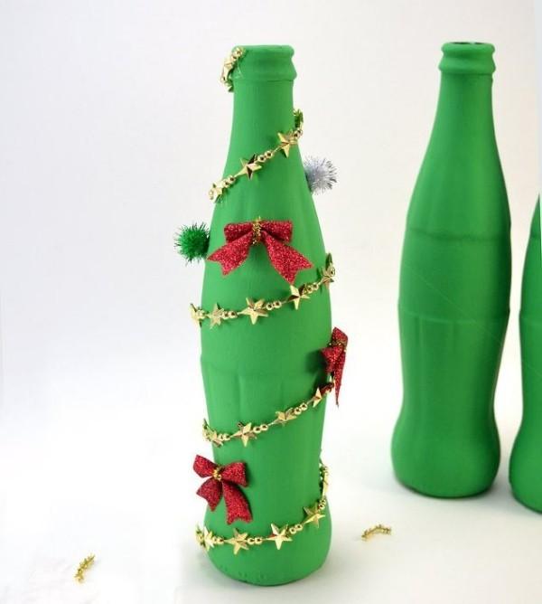 DIY Χριστουγεννιάτικη διακόσμηση από γυάλινα μπουκάλια26