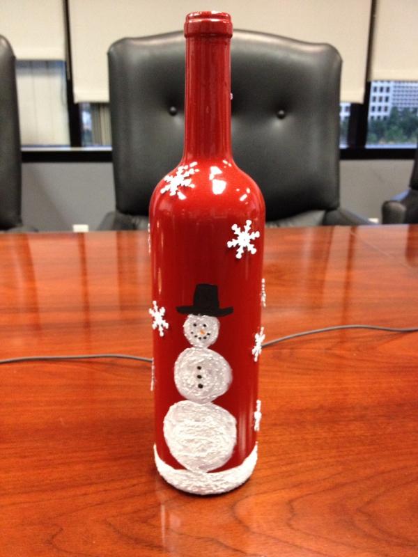 DIY Χριστουγεννιάτικη διακόσμηση από γυάλινα μπουκάλια28