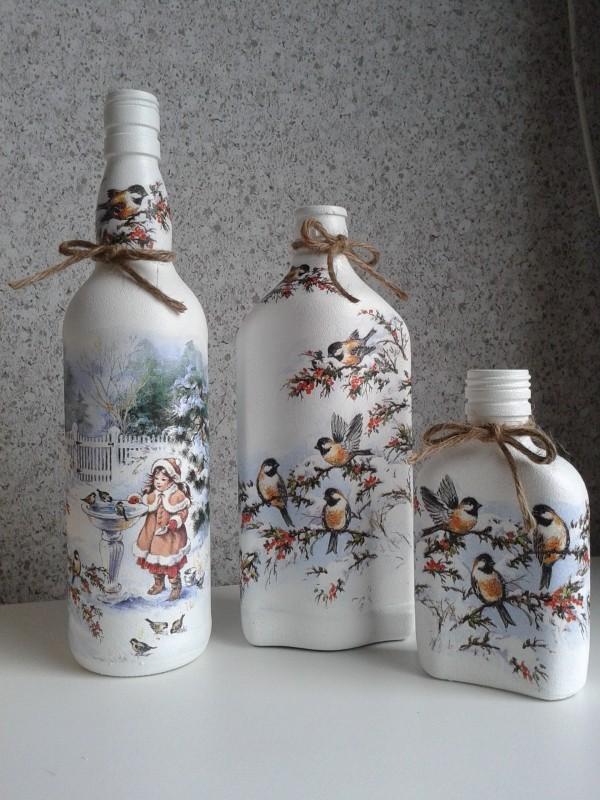 DIY Χριστουγεννιάτικη διακόσμηση από γυάλινα μπουκάλια5