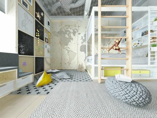 Μοντέρνα σχεδίαση παιδικού δωματίου10