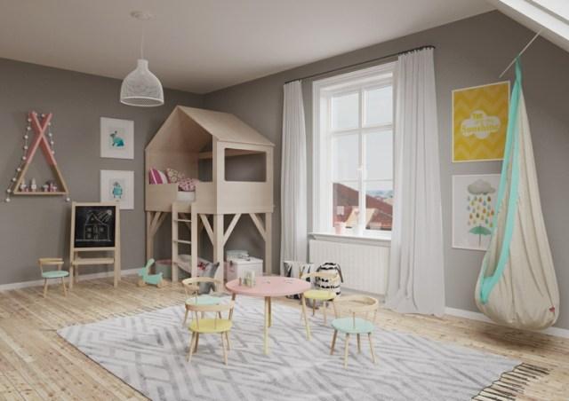 Μοντέρνα σχεδίαση παιδικού δωματίου18