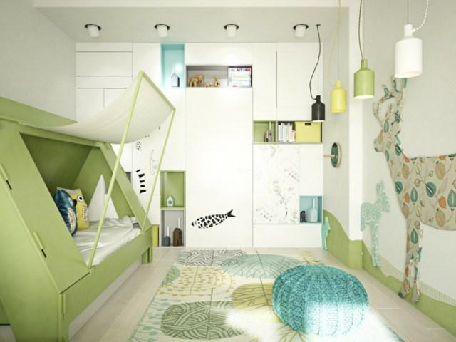 Μοντέρνα σχεδίαση παιδικού δωματίου2