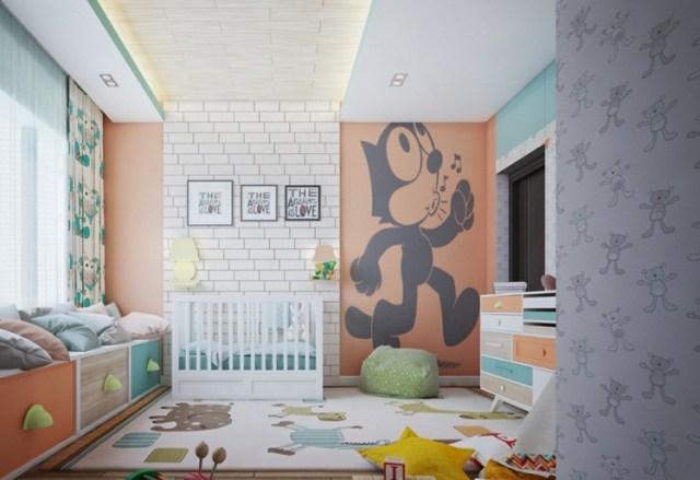 Μοντέρνα σχεδίαση παιδικού δωματίου20