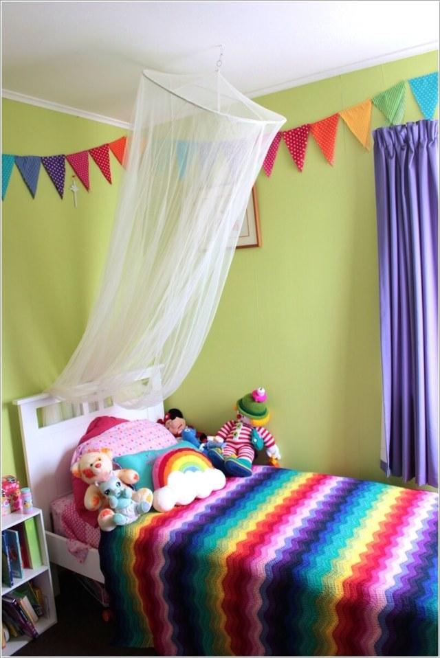 πλεκτή διακόσμηση στο παιδικό δωμάτιο2