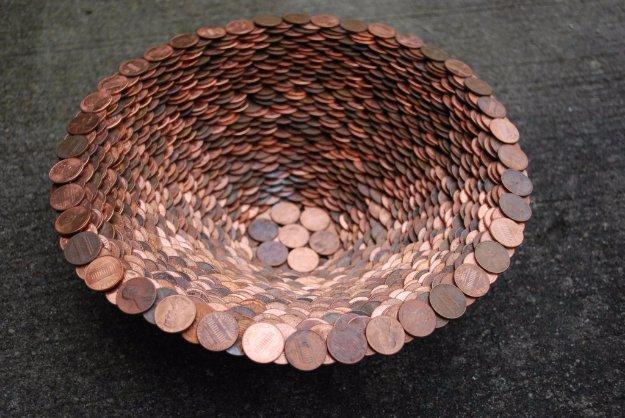 DIY έργα διακόσμησης από μικρό νομίσματα1