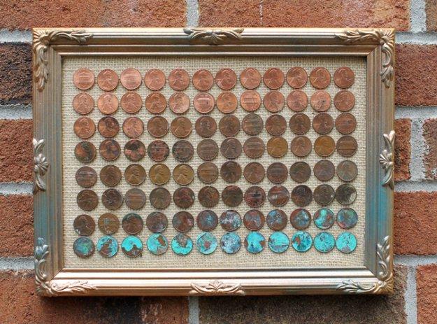 DIY έργα διακόσμησης από μικρό νομίσματα5