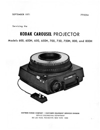 Kodak Pocket Carousel 100 Slide Projector Service and