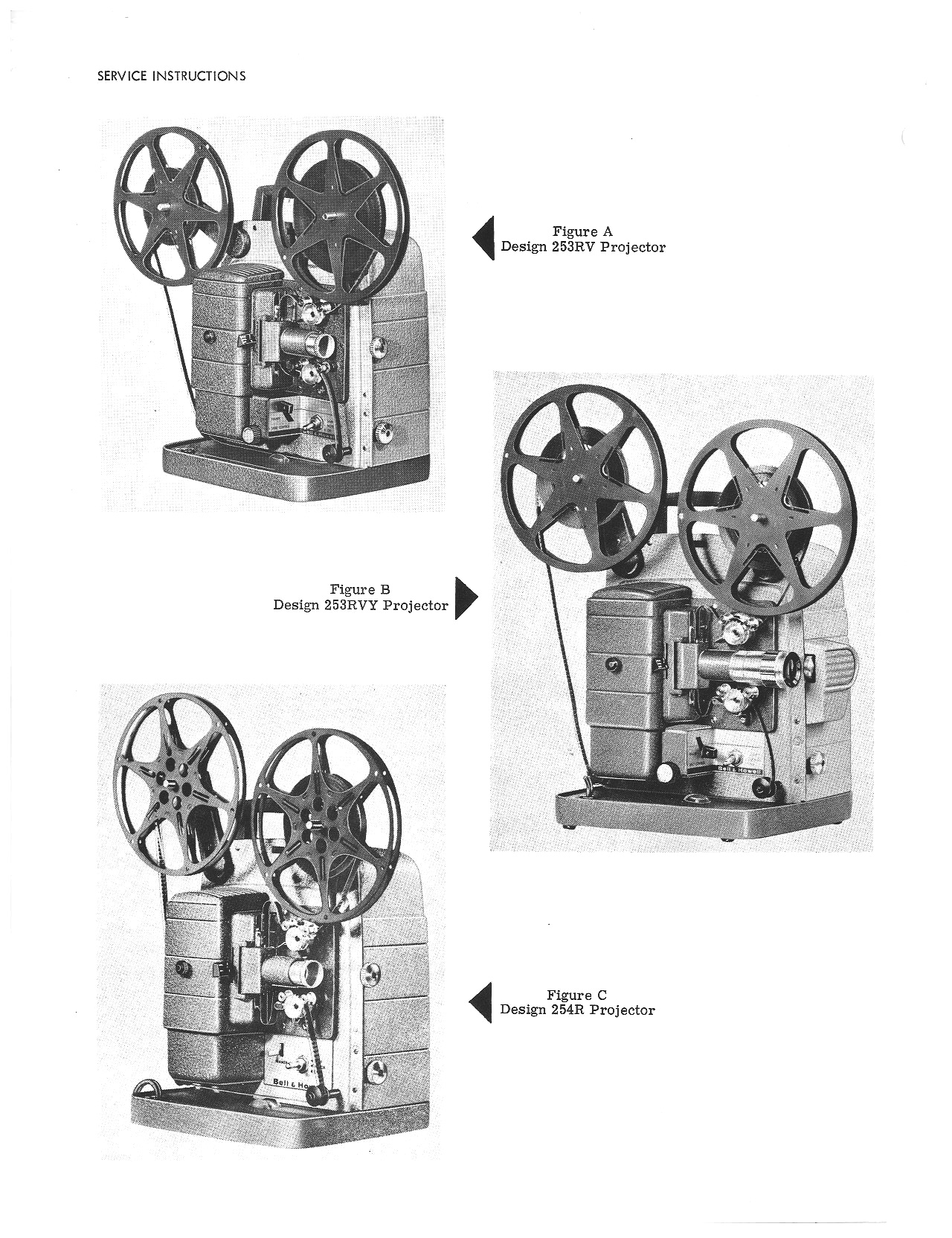 Bell & Howell 253, 254 8mm Movie Projector Service and