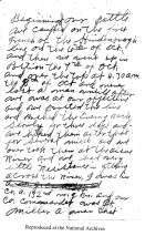 Page 1 of Private Leonard Summers' Report from ARC Identifier 301641