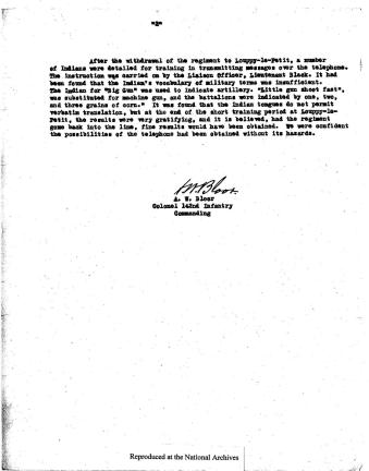 """Page 2 of memo """"Transmitting Messages in Choctaw"""" from ARC Identifier 301641"""