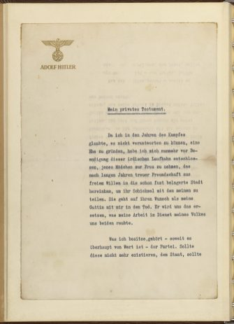 Hitler's Private Will, p1
