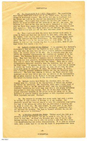 The Last Days in Hitler's Air Raid Shelter Interrogation Summary p9