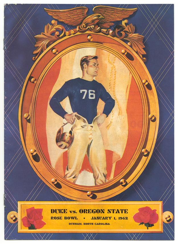 Rose Bowl game program from January 1, 1942