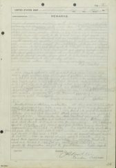 8 May page from USS Lexington deck log, narrative report