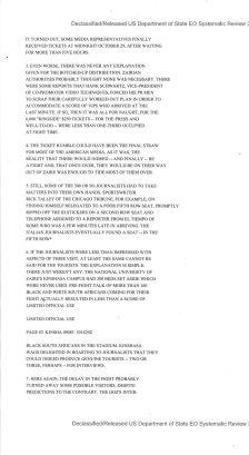 Telegram from American Embassy Kinshasa re: Foreman-Ali: The Final Round? 10/30/1974