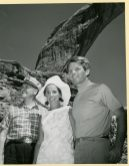The Kennedys along with Frank Moss in front of Rainbow Bridge.