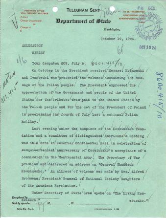 Telegram 46 to U.S. Legation in Poland, p. 1
