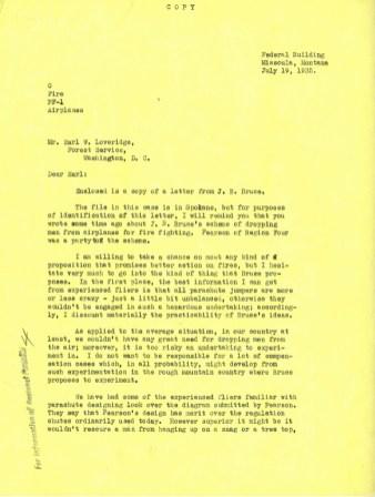 Evan Kelley to Earl Loveridge, July 19, 1935. p. 1.
