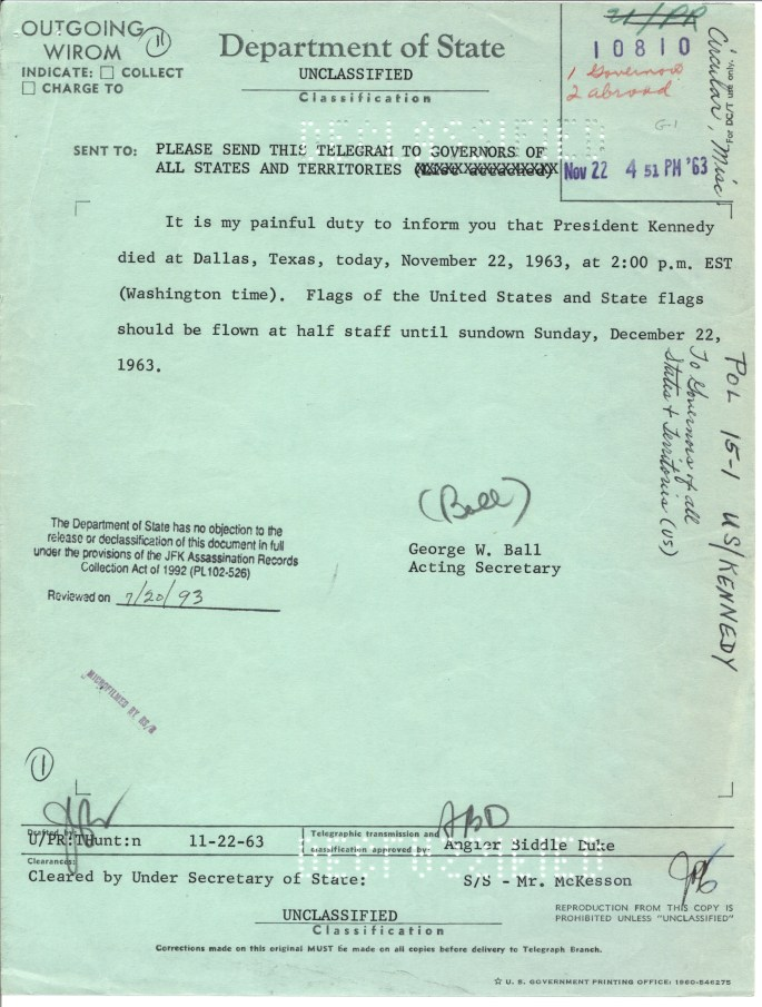 US POL 15-1 US[Kennedy.Cir Tel Governors
