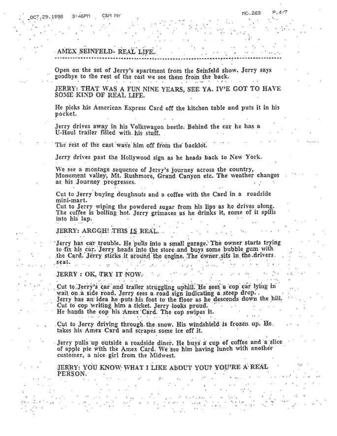 11 - Amex Seinfield Script