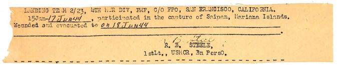 7 - Wounded on Saipan