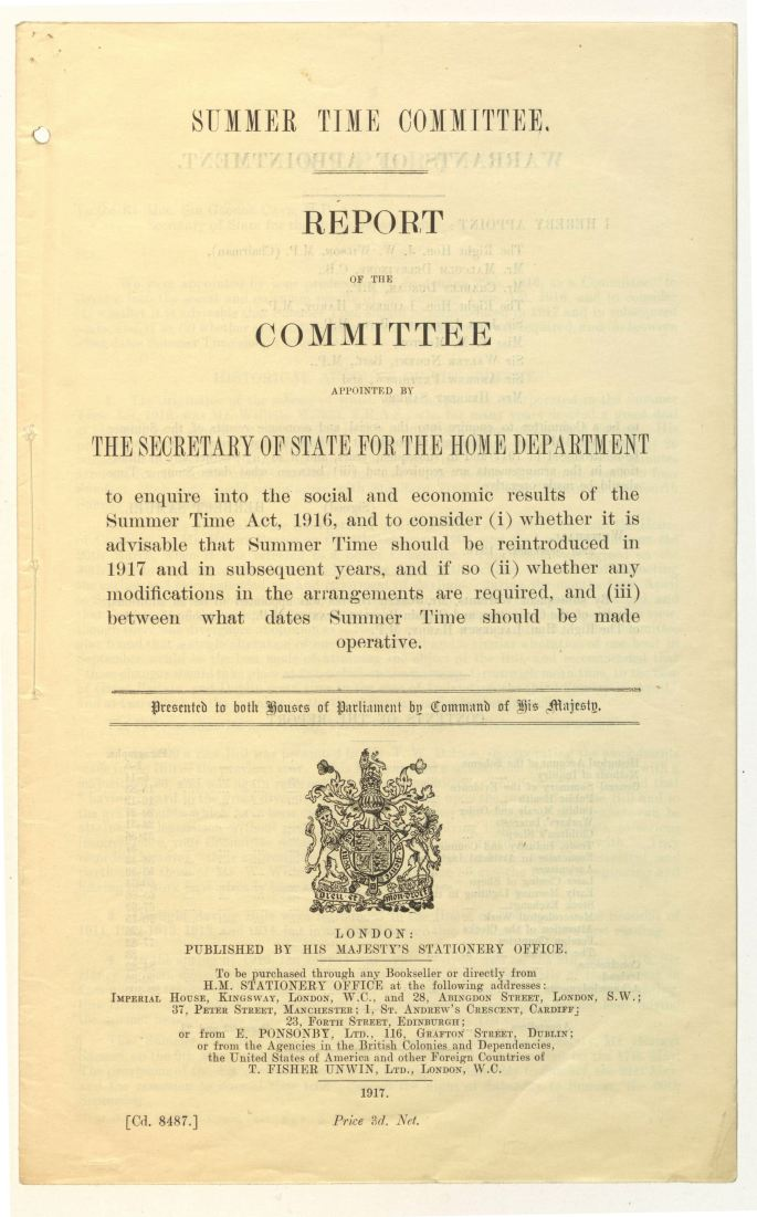Report of the Summer Time Committee