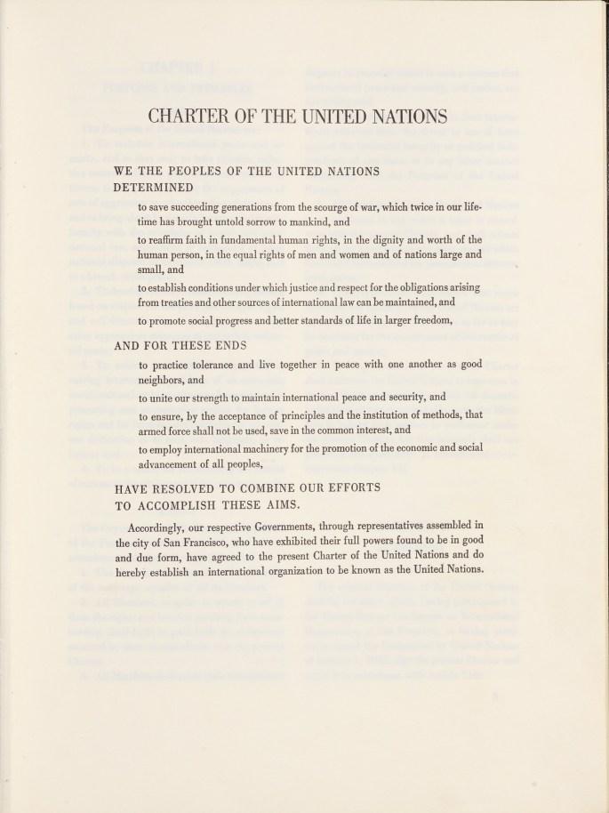 UN Charter.Principles