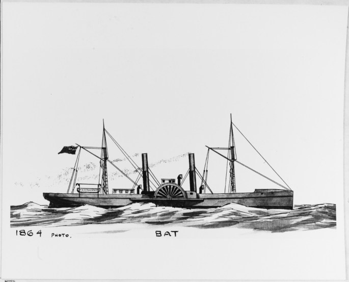 Drawing of the the Bat, dated 1864