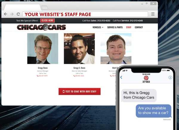 TEXTconnect connects consumers to staff straight from your website
