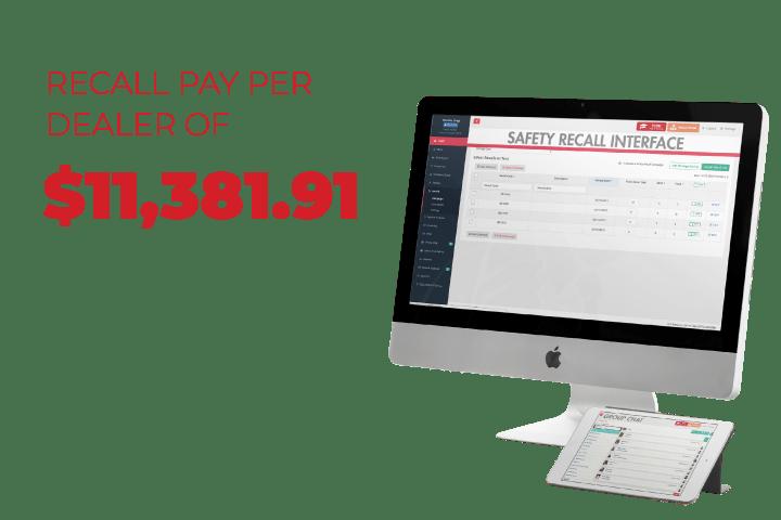 safety recall interface desktop dashboard