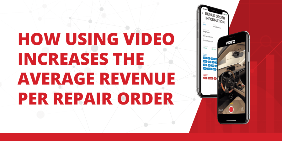 video is proven to increase the average revenue per repair order
