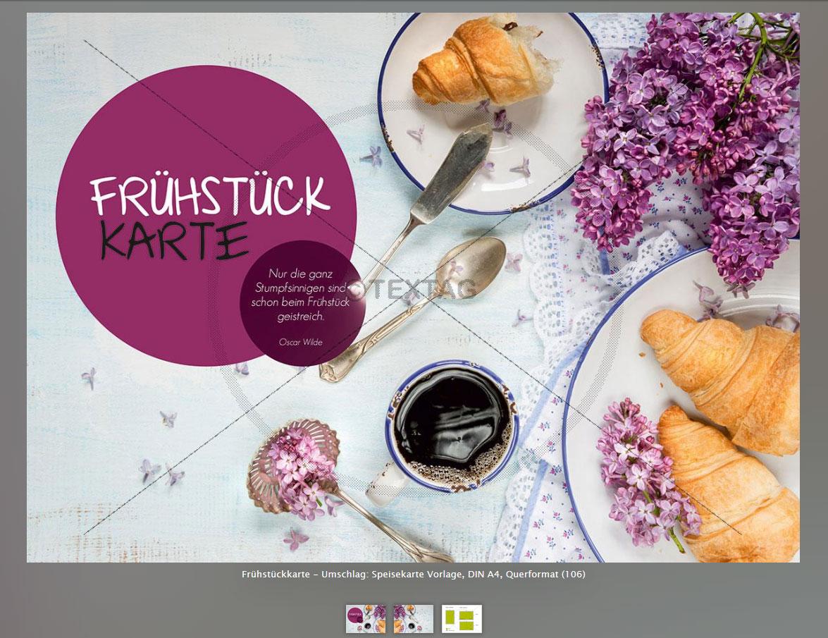 Speisekarten Design Vorlagen  extravagante Design