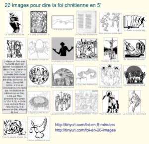 26 images pour dire la foi chrétienne en 5'