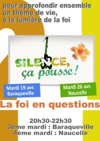 Soirée-débat, la foi en questions : Silence, ça pousse - mardi 19 avril 2016 20h30-22h30