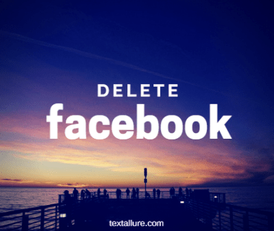Deactivate and Delete Facebook Account 2018