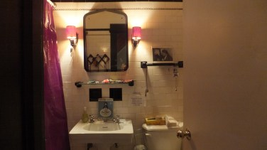 Bathroom display at the Herstory Archive