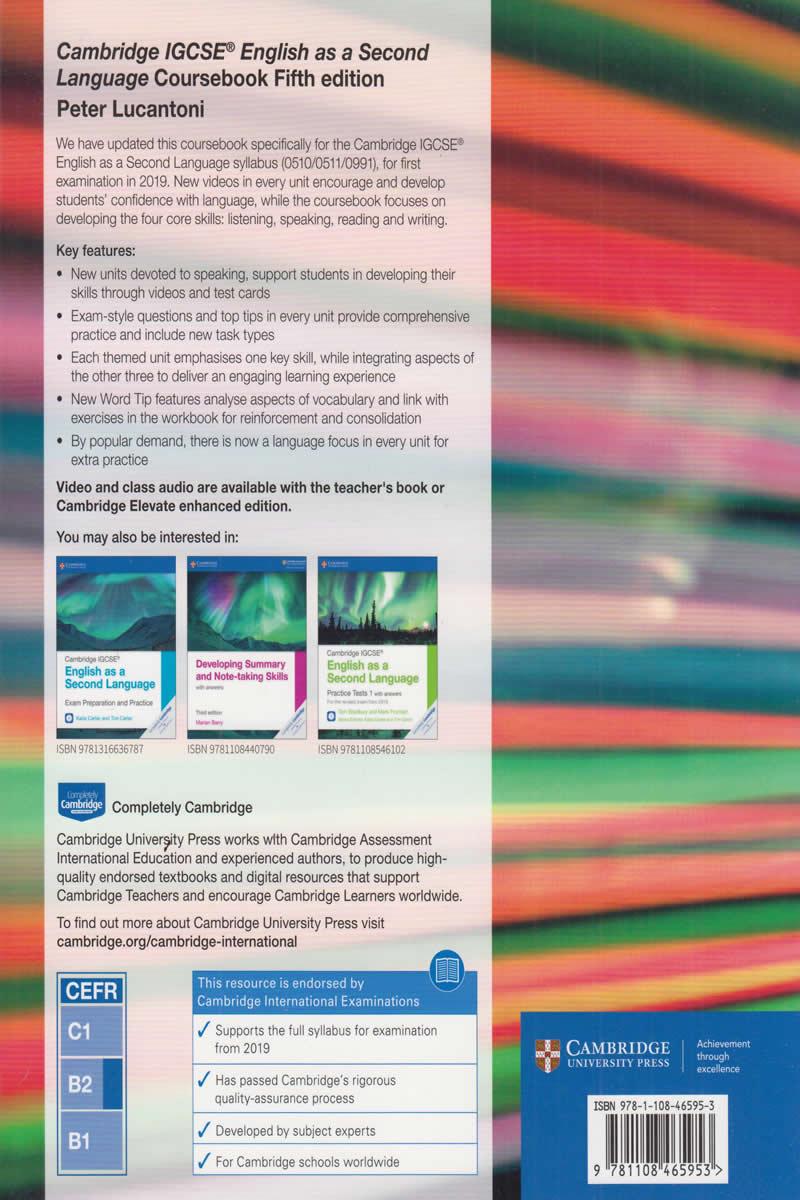 Cambridge IGCSE English Second Language Coursebook 4th Edition (Cambridge)   Text Book Centre