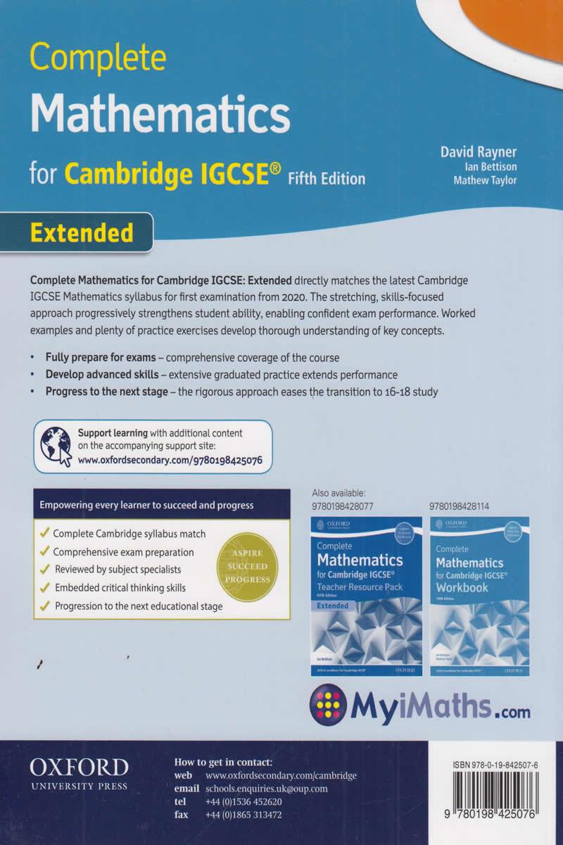 Complete Mathematics for Cambridge IGCSE   Text Book Centre