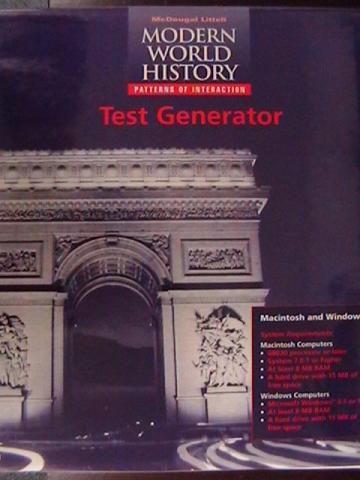 Modern World History Patterns Of Interaction Test Gen