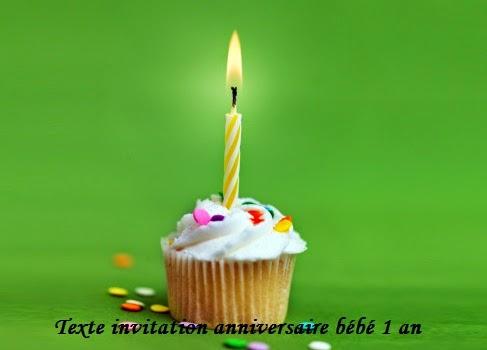 texte invitation anniversaire bebe 1 an texte message et poeme d anniversaire